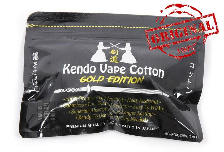 Хлопок (вата) Kendo Vape Cotton Gold Edition + 20% free (Оригинал) - Хлопок / Вата