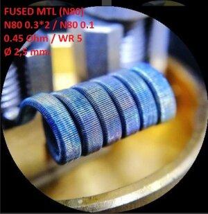 Спираль HM Fused MTL - Ni80 (2 шт. - пара)