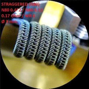 Спираль HM Staggered - Ni80 (2 шт. - пара)