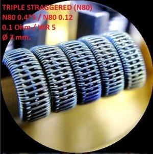 Спираль HM Triple staggered - Ni80 (2 шт. - пара)
