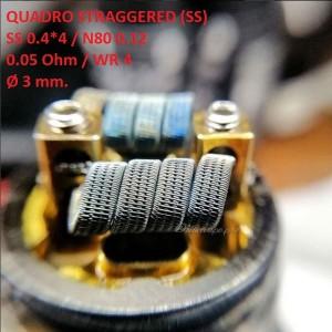 Спираль HM Quadro staggered - SS (2 шт. - пара)