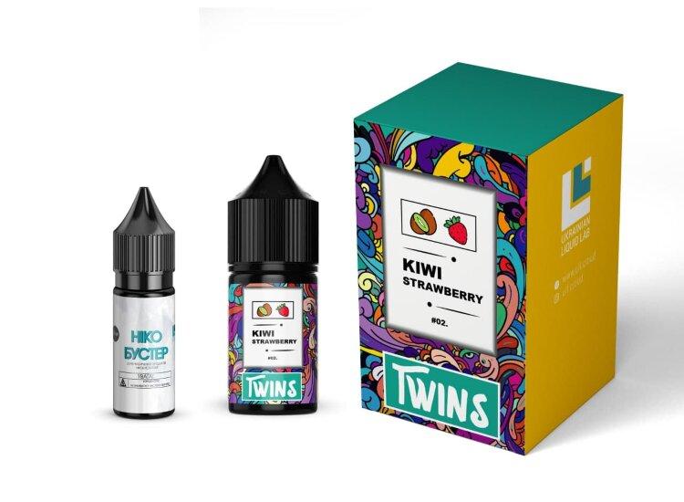 Набор TWINS SALT - Kiwi Strawberry 50 mg (30 ml.) - TWINS (Salt)